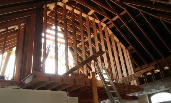 Nieuw houten dak
